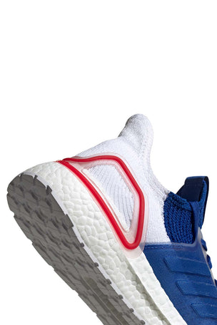 Adidas Ultra Boost 19 Shoes - White/Blue/Red | Men's image 3 - The Sports Edit