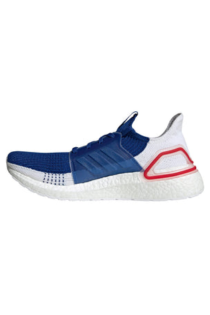 Adidas Ultra Boost 19 Shoes - White/Blue/Red | Men's image 2 - The Sports Edit