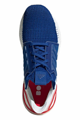 ADIDAS Ultra Boost 19 Shoes - White/Blue/Red | Men's image 5 - The Sports Edit