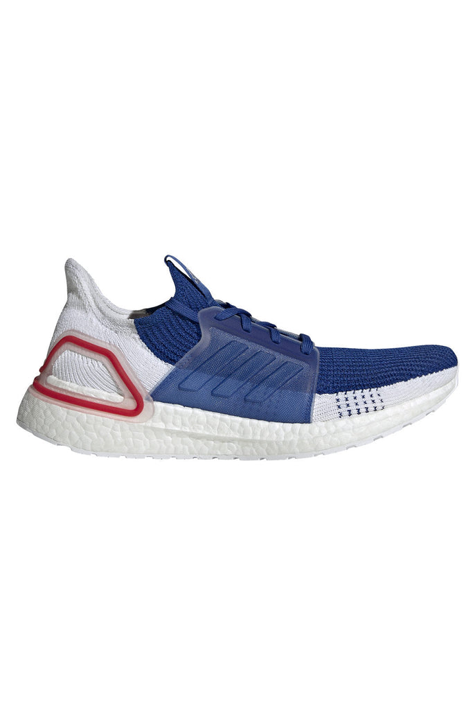 adidas | Ultraboost 19 Trainers - White/Blue/Red | The