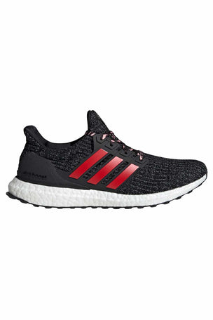 ADIDAS Ultraboost Shoes - Black/Scarlet | Men's image 1 - The Sports Edit