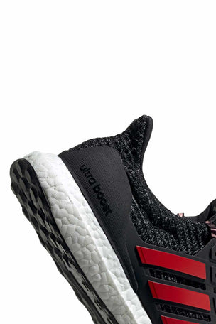 ADIDAS Ultraboost Shoes - Black/Scarlet | Men's image 4 - The Sports Edit