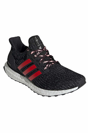 ADIDAS Ultraboost Shoes - Black/Scarlet | Men's image 2 - The Sports Edit