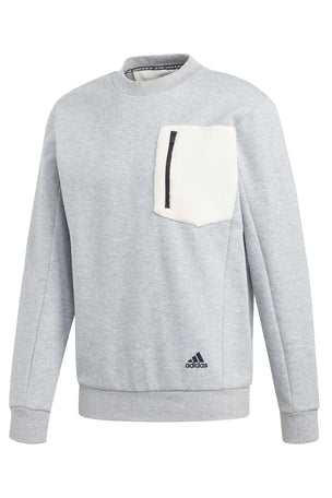Adidas Winter Badge of Sport Sweatshirt - Grey image 6 - The Sports Edit