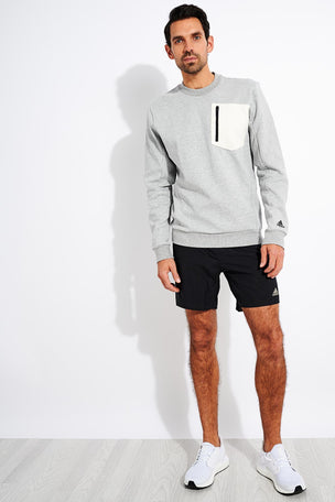 Adidas Winter Badge of Sport Sweatshirt - Grey image 4 - The Sports Edit