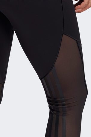 Adidas Believe This 2.0 3-Stripes Mesh Long Leggings - Black image 6 - The Sports Edit