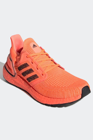 Adidas Ultraboost 20 Shoes - Signal Coral/Black | Women's image 3 - The Sports Edit