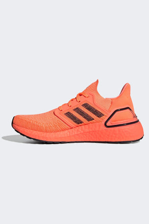 Adidas Ultraboost 20 Shoes - Signal Coral/Black | Women's image 2 - The Sports Edit