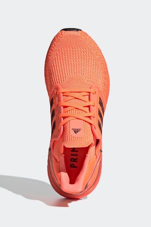 Adidas Ultraboost 20 Shoes - Signal Coral/Black | Women's image 7 - The Sports Edit