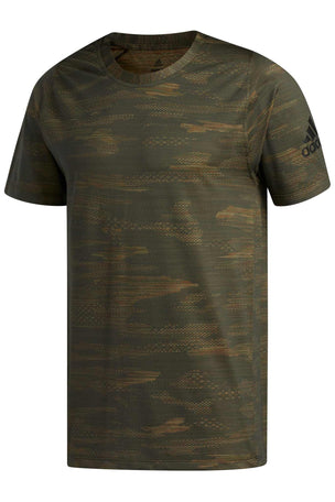 Adidas FreeLift Camo Tee - Tech Olive image 5 - The Sports Edit