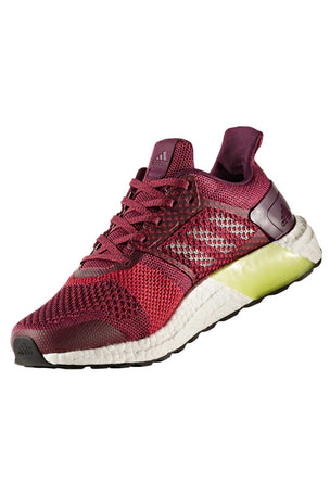 bff87793197 ADIDAS Ultra Boost ST Stability Trainers - Ruby image 3 - The Sports Edit