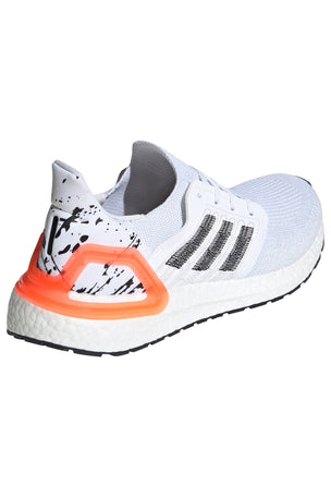 Adidas Ultraboost 20  - Cloud White/Core Black/Signal Coral image 2 - The Sports Edit