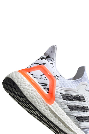 Adidas Ultraboost 20  - Cloud White/Core Black/Signal Coral image 6 - The Sports Edit