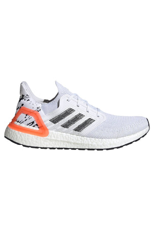 Adidas Ultraboost 20  - Cloud White/Core Black/Signal Coral image 1 - The Sports Edit