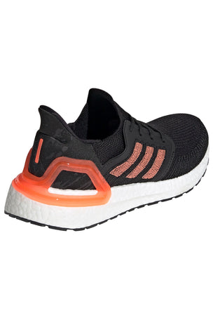 Adidas Ultraboost 20  - Core Black/Signal Coral/White image 2 - The Sports Edit