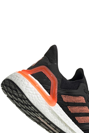 Adidas Ultraboost 20  - Core Black/Signal Coral/White image 5 - The Sports Edit