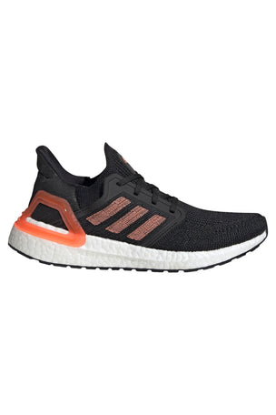 Adidas Ultraboost 20  - Core Black/Signal Coral/White image 1 - The Sports Edit