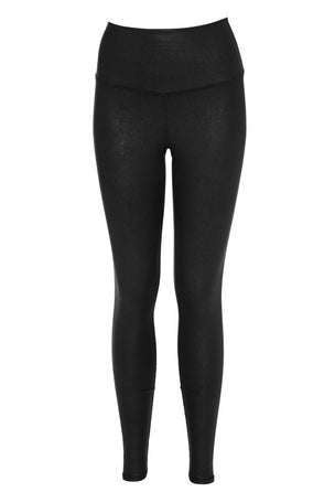 Alo Yoga High-Waist Airbrush Legging Blk/Perf Leather image 5 - The Sports Edit