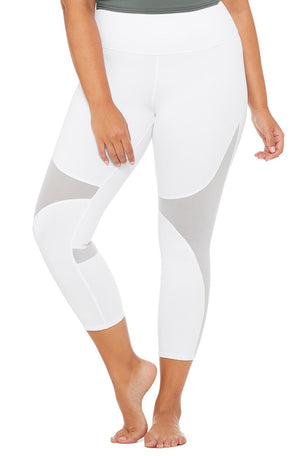 Alo Yoga High Waisted Coast Capri - White image 5 - The Sports Edit