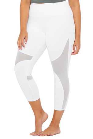 Alo Yoga High Waisted Coast Capri - White image 6 - The Sports Edit