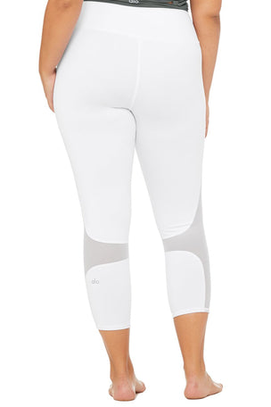 Alo Yoga High Waisted Coast Capri - White image 7 - The Sports Edit