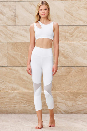 Alo Yoga High Waisted Coast Capri - White image 8 - The Sports Edit