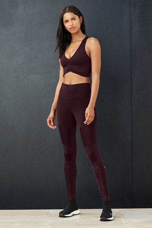 Alo Yoga High Waisted Moto Legging - Oxblood image 6 - The Sports Edit