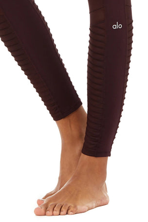 Alo Yoga High Waisted Moto Legging - Oxblood image 5 - The Sports Edit