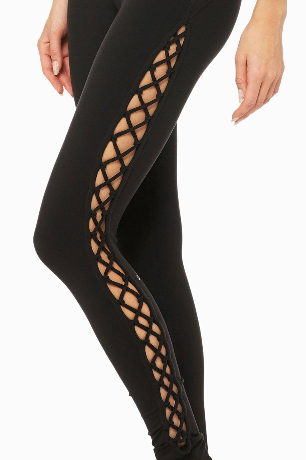 Alo Yoga Interlace Legging - Black image 4 - The Sports Edit