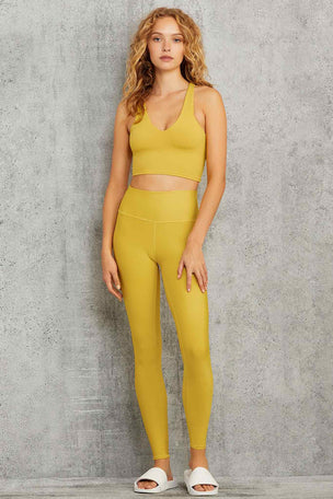 Alo Yoga Real Bra Tank - Sulphur image 5 - The Sports Edit