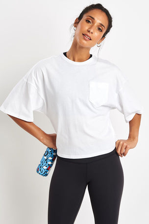 Reebok Training Supply Pocket Tee - White image 5 - The Sports Edit