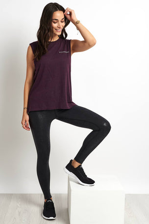 good hYOUman Aguilera Muscle Tank - Plum image 4 - The Sports Edit