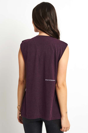 good hYOUman Aguilera Muscle Tank - Plum image 2 - The Sports Edit
