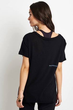 good hYOUman Dakota Short Sleeve Scoop Neck - Thankful for Fridays image 3 - The Sports Edit