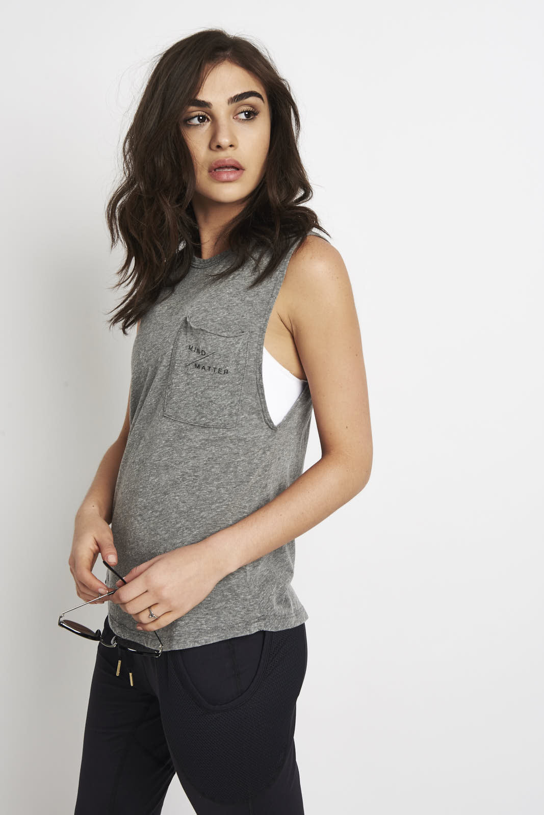 good hYOUman Riley mind/matter tank Grey image 1 - The Sports Edit