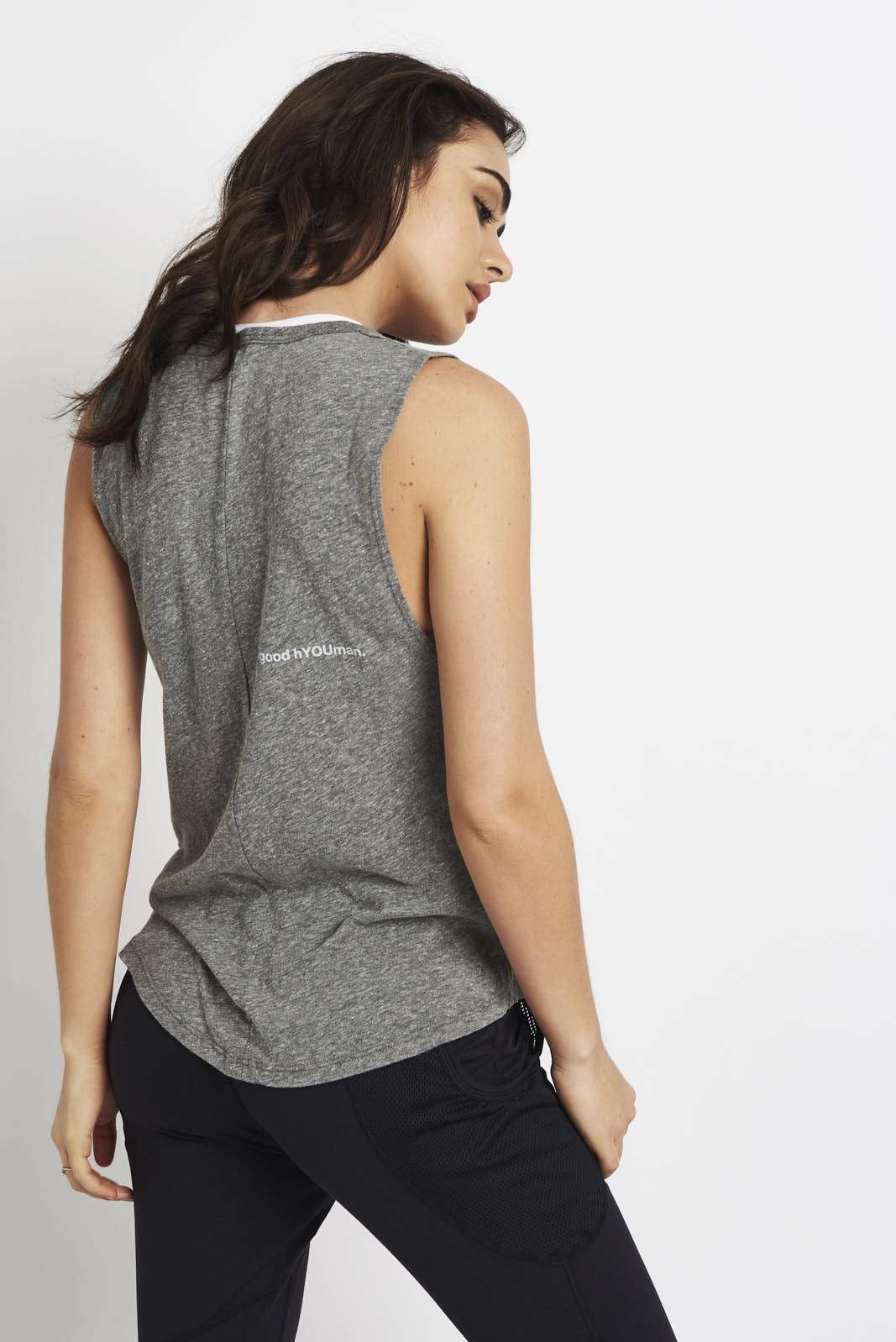 good hYOUman Riley mind/matter tank Grey image 2 - The Sports Edit