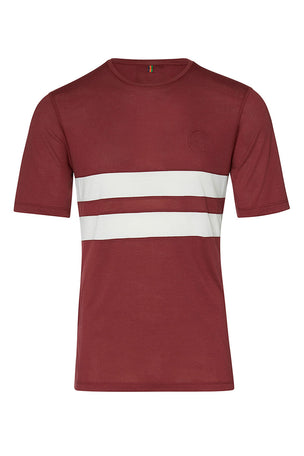 Iffley Road Cambrian Striped T-Shirt - Maple/ White image 5 - The Sports Edit