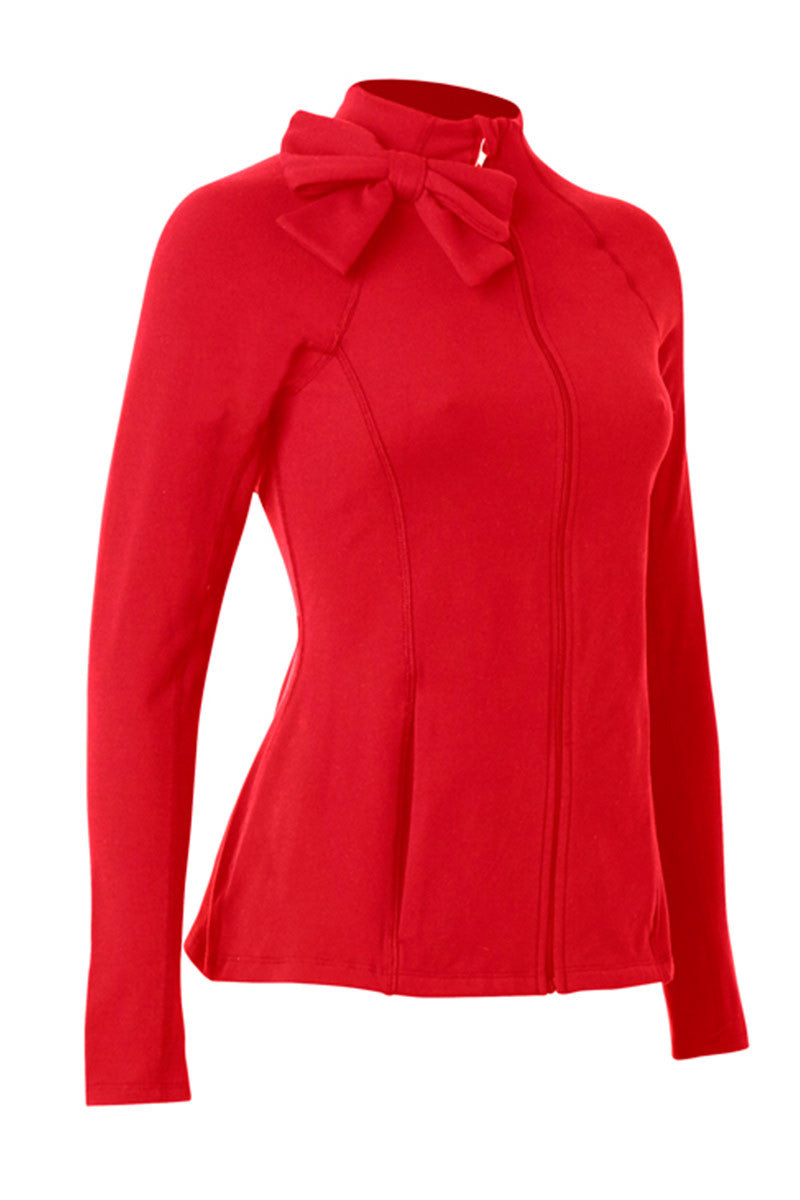 Beyond Yoga x Kate Spade New York Neck Bow Jacket Posy Red image 1