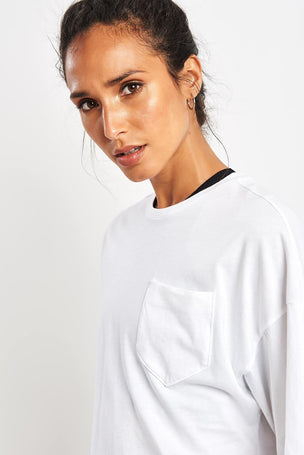 Reebok Training Supply Pocket Tee - White image 3 - The Sports Edit