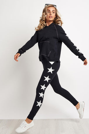 Sundry Side Stars Cropped Hoodie image 4 - The Sports Edit