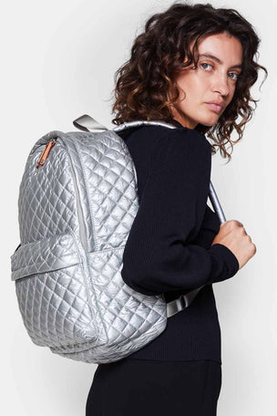 MZ Wallace Metro Backpack - Tin Metallic image 4 - The Sports Edit