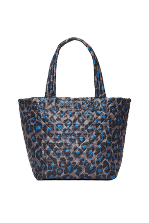 MZ Wallace Medium Metro Tote Deluxe - Blue Leopard image 1 - The Sports Edit