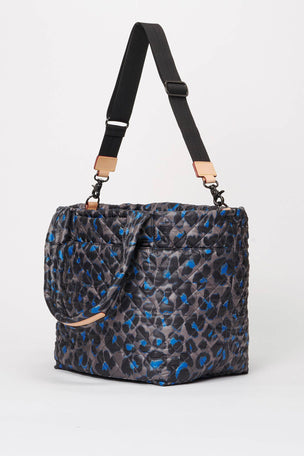 MZ Wallace Medium Metro Tote Deluxe - Blue Leopard image 2 - The Sports Edit