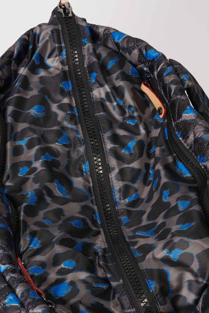 MZ Wallace Medium Metro Tote Deluxe - Blue Leopard image 4 - The Sports Edit