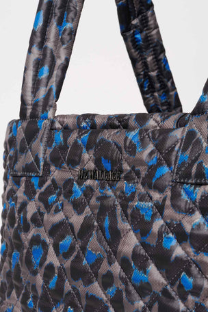 MZ Wallace Medium Metro Tote Deluxe - Blue Leopard image 3 - The Sports Edit