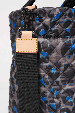 MZ Wallace Medium Metro Tote Deluxe - Blue Leopard image 5 - The Sports Edit