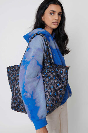 MZ Wallace Medium Metro Tote Deluxe - Blue Leopard image 7 - The Sports Edit