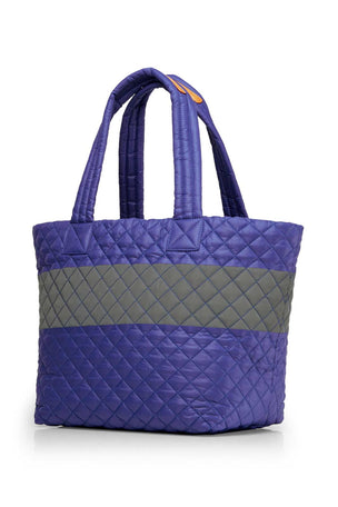MZ Wallace Medium Metro Tote - Lapis/ Reflective image 2 - The Sports Edit