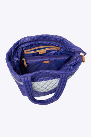 MZ Wallace Medium Metro Tote - Lapis/ Reflective image 3 - The Sports Edit