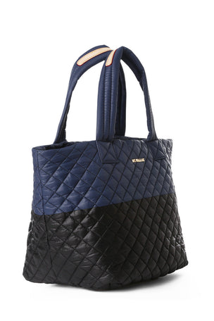 MZ Wallace Medium Metro Tote - Black Navy image 2 - The Sports Edit